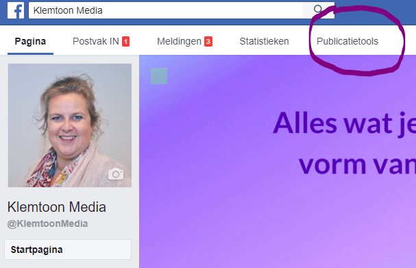 Facebook publicatietools